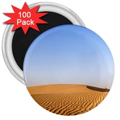 Desert Dunes With Blue Sky 3  Magnets (100 Pack) by Ucco