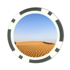Desert Dunes With Blue Sky Poker Chip Card Guard by Ucco