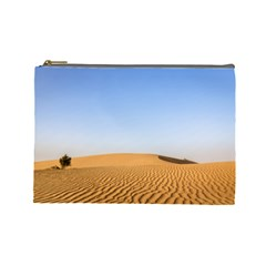 Desert Dunes With Blue Sky Cosmetic Bag (large)  by Ucco