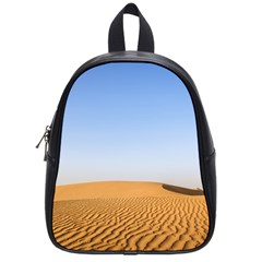 Desert Dunes With Blue Sky School Bag (small) by Ucco