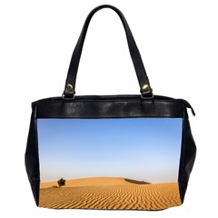 Desert Dunes With Blue Sky Office Handbags (2 Sides)  by Ucco