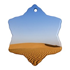Desert Dunes With Blue Sky Snowflake Ornament (two Sides) by Ucco