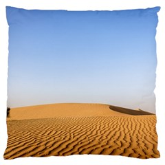 Desert Dunes With Blue Sky Large Cushion Case (one Side)
