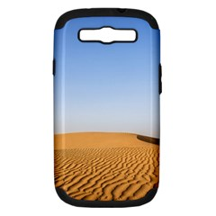 Desert Dunes With Blue Sky Samsung Galaxy S Iii Hardshell Case (pc+silicone) by Ucco