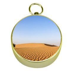 Desert Dunes With Blue Sky Gold Compasses by Ucco