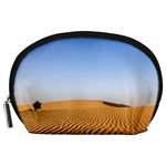Desert Dunes With Blue Sky Accessory Pouches (Large)  Front