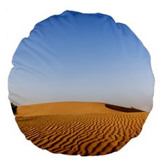 Desert Dunes With Blue Sky Large 18  Premium Flano Round Cushions by Ucco