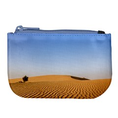 Desert Dunes With Blue Sky Large Coin Purse by Ucco