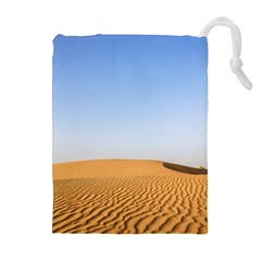 Desert Dunes With Blue Sky Drawstring Pouches (extra Large) by Ucco