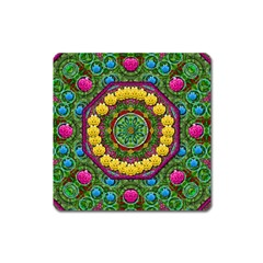 Bohemian Chic In Fantasy Style Square Magnet by pepitasart
