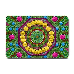 Bohemian Chic In Fantasy Style Small Doormat  by pepitasart