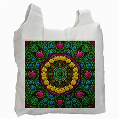 Bohemian Chic In Fantasy Style Recycle Bag (two Side)  by pepitasart