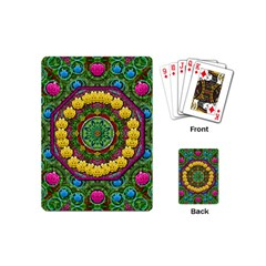 Bohemian Chic In Fantasy Style Playing Cards (mini)  by pepitasart