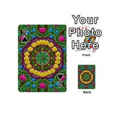 Bohemian Chic In Fantasy Style Playing Cards 54 (mini)  by pepitasart