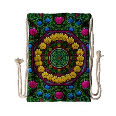 Bohemian Chic In Fantasy Style Drawstring Bag (small) by pepitasart