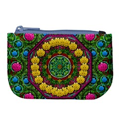 Bohemian Chic In Fantasy Style Large Coin Purse by pepitasart