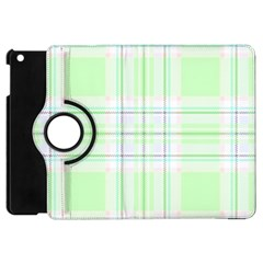 Green Pastel Plaid Apple Ipad Mini Flip 360 Case by allthingseveryone