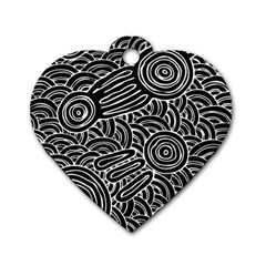 Meeting Places Dog Tag Heart (one Side) by hogartharts