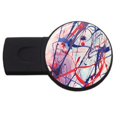 Messy Love Usb Flash Drive Round (2 Gb) by LaurenTrachyArt