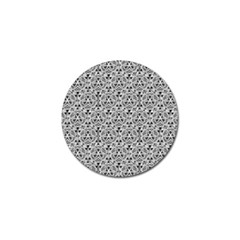 Hand Drawing Tribal Black White Golf Ball Marker (10 Pack) by Cveti