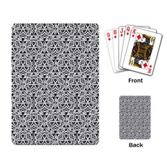 Hand Drawing Tribal Black White Playing Card