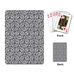 Hand Drawing Tribal Black White Playing Card Back