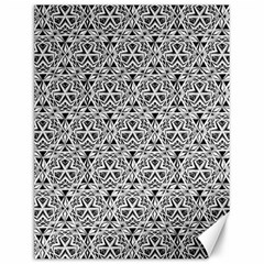 Hand Drawing Tribal Black White Canvas 12  X 16   by Cveti