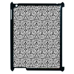 Hand Drawing Tribal Black White Apple Ipad 2 Case (black) by Cveti