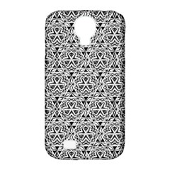 Hand Drawing Tribal Black White Samsung Galaxy S4 Classic Hardshell Case (pc+silicone) by Cveti