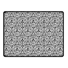 Hand Drawing Tribal Black White Double Sided Fleece Blanket (small)  by Cveti
