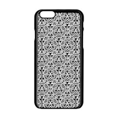 Hand Drawing Tribal Black White Apple Iphone 6/6s Black Enamel Case by Cveti