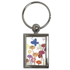 Flowers Butterflies Dragonflies Key Chains (rectangle)