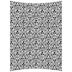 Hand Drawing Tribal Black White Back Support Cushion