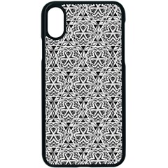 Hand Drawing Tribal Black White Apple Iphone X Seamless Case (black) by Cveti