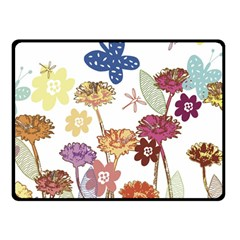 Flowers Butterflies Dragonflies Fleece Blanket (small)