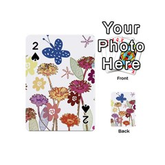 Flowers Butterflies Dragonflies Playing Cards 54 (mini)