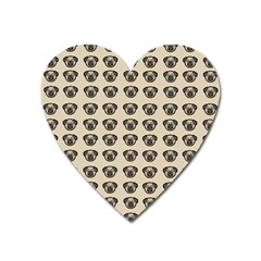 Puppy Dog Pug Pup Graphic Heart Magnet by Celenk