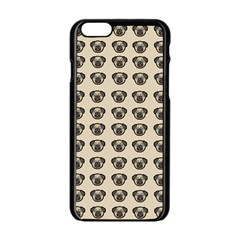 Puppy Dog Pug Pup Graphic Apple Iphone 6/6s Black Enamel Case by Celenk