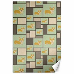 Quirky Corgi Kraft Present Gift Wrap Wrapping Paper Canvas 24  X 36  by Celenk