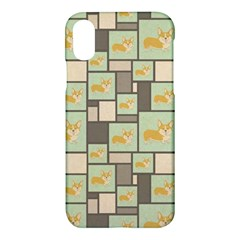 Quirky Corgi Kraft Present Gift Wrap Wrapping Paper Apple Iphone X Hardshell Case by Celenk