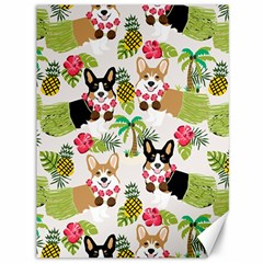 Hula Corgis Fabric Canvas 36  X 48   by Celenk