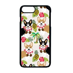 Hula Corgis Fabric Apple Iphone 8 Plus Seamless Case (black) by Celenk