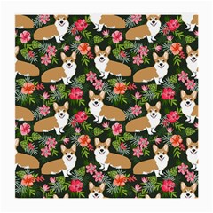 Welsh Corgi Hawaiian Pattern Florals Tropical Summer Dog Medium Glasses Cloth