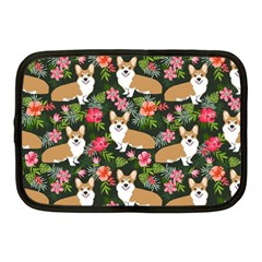 Welsh Corgi Hawaiian Pattern Florals Tropical Summer Dog Netbook Case (medium)  by Celenk