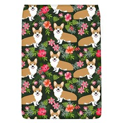 Welsh Corgi Hawaiian Pattern Florals Tropical Summer Dog Flap Covers (l)