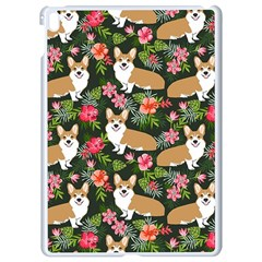 Welsh Corgi Hawaiian Pattern Florals Tropical Summer Dog Apple Ipad Pro 9 7   White Seamless Case