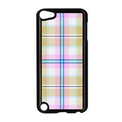 Pink And Yellow Plaid Apple Ipod Touch 5 Case (black) by allthingseveryone