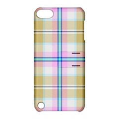 Pink And Yellow Plaid Apple Ipod Touch 5 Hardshell Case With Stand by allthingseveryone