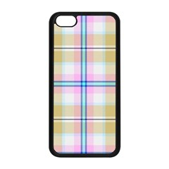 Pink And Yellow Plaid Apple Iphone 5c Seamless Case (black) by allthingseveryone