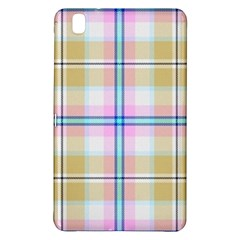 Pink And Yellow Plaid Samsung Galaxy Tab Pro 8 4 Hardshell Case by allthingseveryone